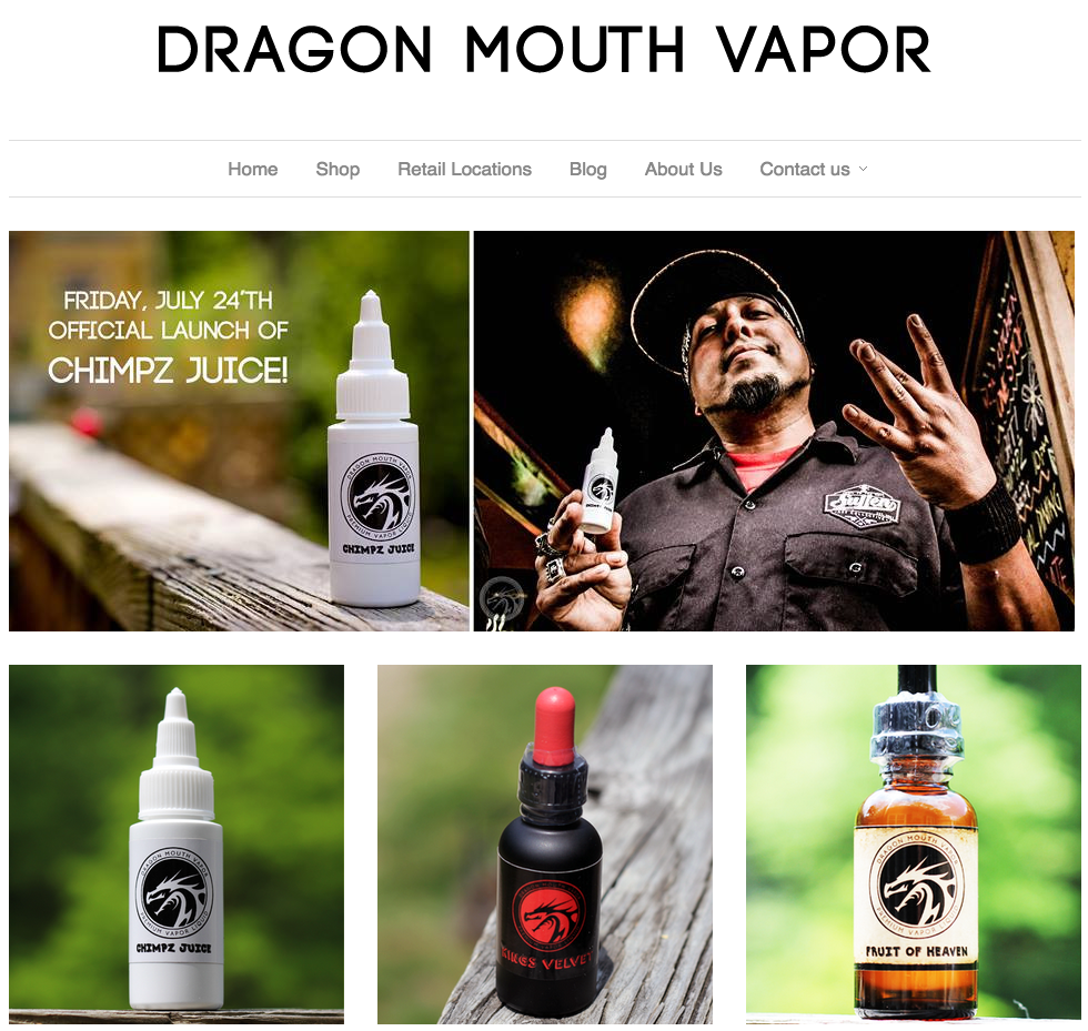 Photos and Branding for Dragon Mouth Vapor